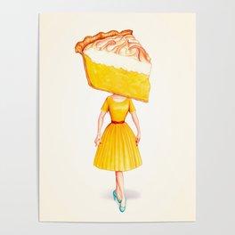 Cake Head Pin-Up - Lemon Poster