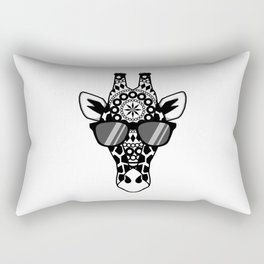 Summertime Mandala Giraffe | Animal Designs | DopeyArt Rectangular Pillow