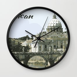 The Vatican St. Peter's Basilica Rome Italy Wall Clock