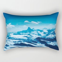 Winter Wonderland up in the Mountains #1 #art #society6 Rectangular Pillow