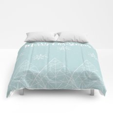 Merry Christmas Mint Comforters