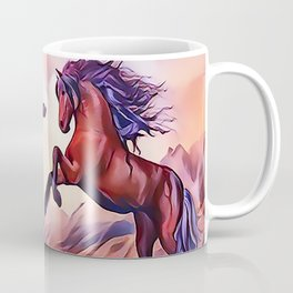 Wild Stallions Playing Coffee Mug