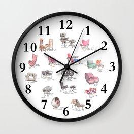 Classic Chair Designs Wall Clock
