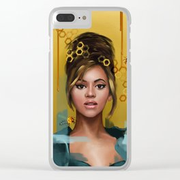 Queen B Clear iPhone Case