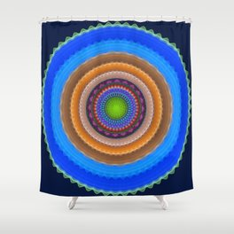 Colourful mandala with tribal patterns Shower Curtain