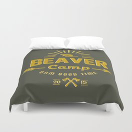 Beaver Camp: Dam Good Time Duvet Cover