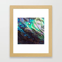 Pearlescent Abalone Shell Framed Art Print