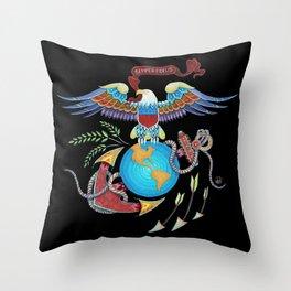Eagle Globe & Anchor Throw Pillow