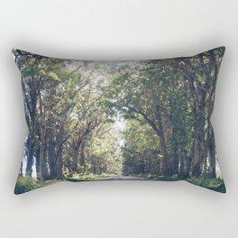 Tunnel of Trees - Color - Kauai, Hawaii Rectangular Pillow