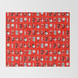 the number of death Throw Blanket