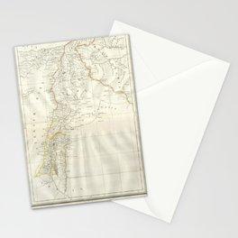 Map, Palestine, holy, land, syria, isreal, province, gaza, strip, jerusalem, Stationery Cards