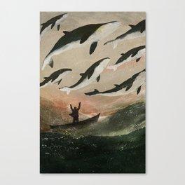 Minke Whale Migration Canvas Print