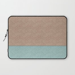 Combo beige turquoise abstract pattern . Laptop Sleeve