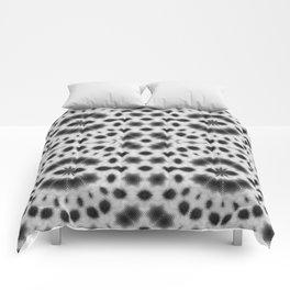 Black and White Mushroom Mandala Comforters