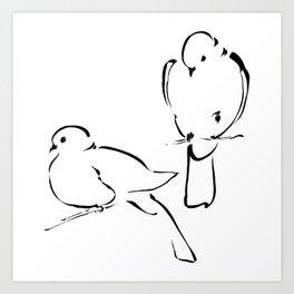 Ink Birds 02 Art Print