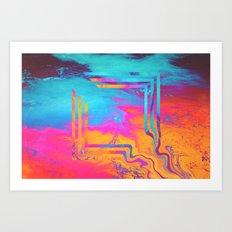 Running To The Sea. Art Print