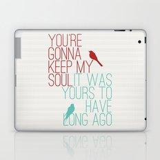 Keepsake - State Radio Lyrics Laptop & iPad Skin