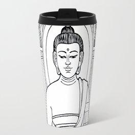Buddha 02 Black & White Travel Mug