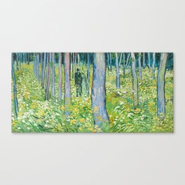Undergrowth with Two Figures by Vincent van Gogh Canvas Print