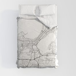 Madison Map White Comforters