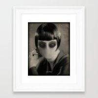 chic Framed Art Prints featuring Chic by Impale Design