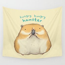 Hungry Hungry Hamster Wall Tapestry