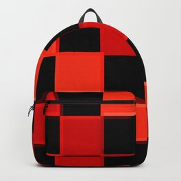 Red & Black Checkers : CheckerBoarD Backpack