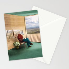 Mr Garwood Goat Reading on the Porch Stationery Cards