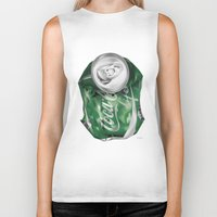 coca cola Biker Tanks featuring Coca-Cola Life by Kenny Risk