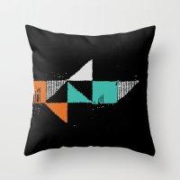 shark Throw Pillows featuring Shark by Last Call