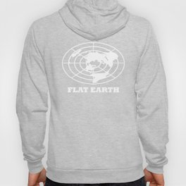 Flat Earth (White) Hoody