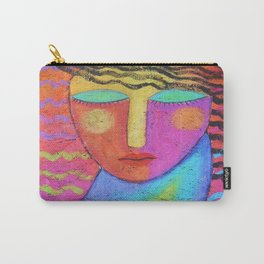Colorful Abstract Painting on OSB Board Carry-All Pouch