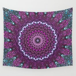 purple and blue kaleidoscope Wall Tapestry