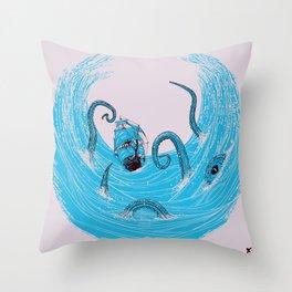 Kraken's Whirlpool Throw Pillow