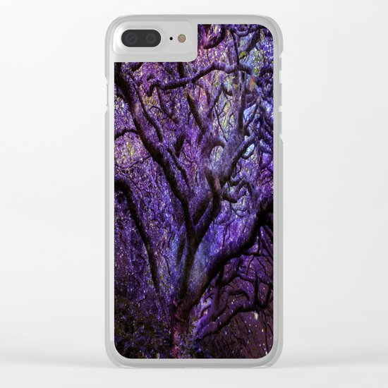 Mystic Tree of Knowledge Purple Clear iPhone Case