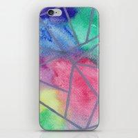 tie dye iPhone & iPod Skins featuring Tie dye by Bridget Davidson