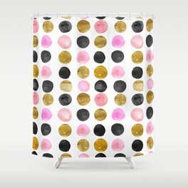 Marvellous Gold And Pink Shower Curtain Contemporary - Best ...