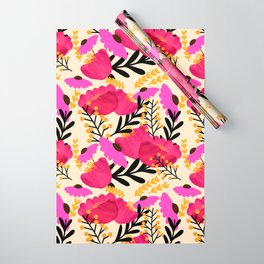 Vibrant Floral Wallpaper Wrapping Paper