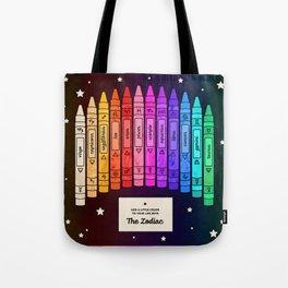 Zodiac Crayon Box Tote Bag