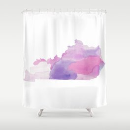 Watercolor State Map - Kentucky KY purples Shower Curtain