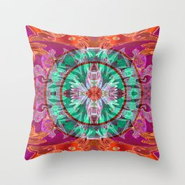Boujee Boho Queen Mandala Throw Pillow