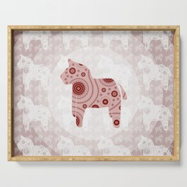 Toy Horse Pattern Serving Tray