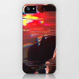 Abstract Digital Glitch Painting iPhone Case