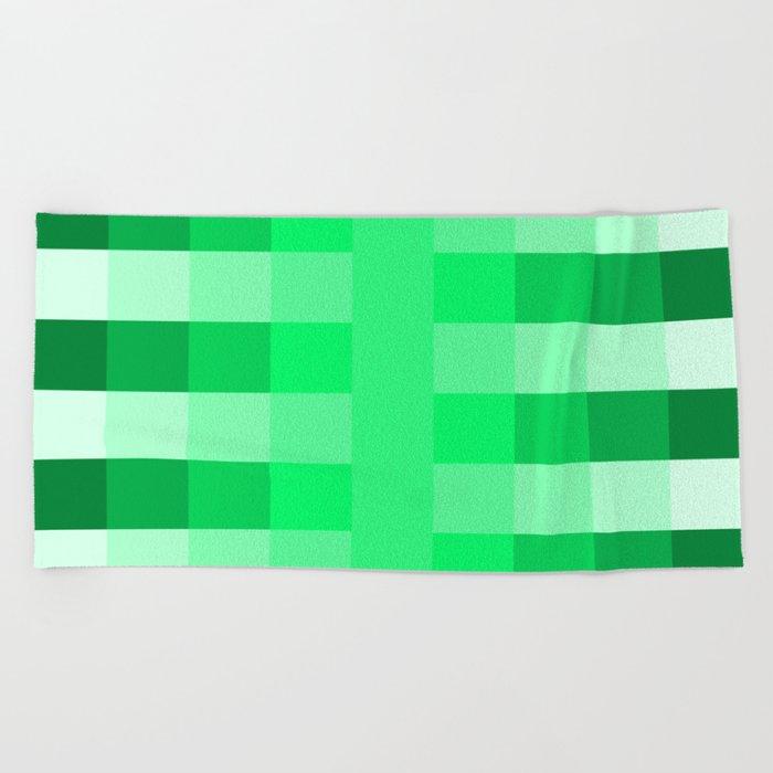 Green Pea Pattern Beach Towel By