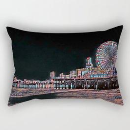 Stained Glass Santa Monica Pier Rectangular Pillow