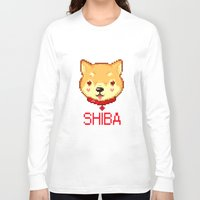 shiba Long Sleeve T-shirts featuring Shiba  by SCAD Illustration Club