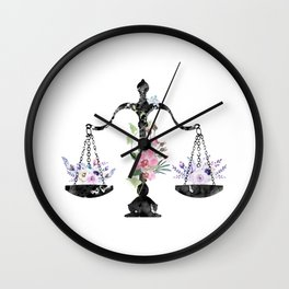 Scales of Justice Art Wall Clock
