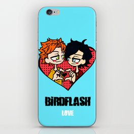 Wally West heart Dick Grayson iPhone Skin