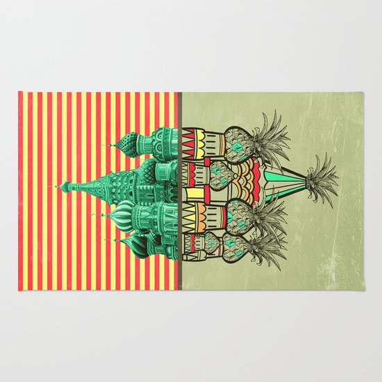 Pineapple architecture  Rug