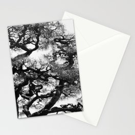 Tree of Japan (black and white edit) Stationery Cards